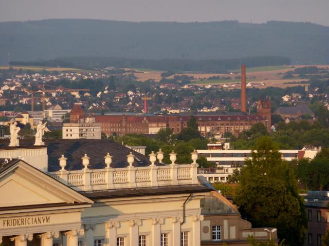 Die Salzmann-Fabrik vom FRK-Balkon aus gesehen (2014-07-22)