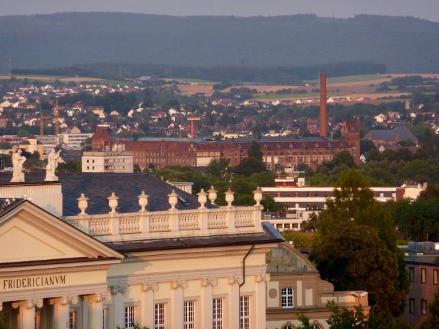 Die Salzmann-Fabrik vom FRK-Balkon aus gesehen (2014-08-05)