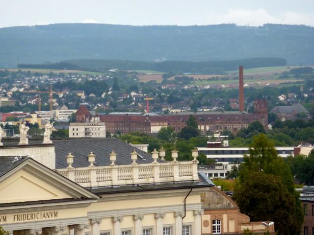 Die Salzmann-Fabrik vom FRK-Balkon aus gesehen (2014-08-19)