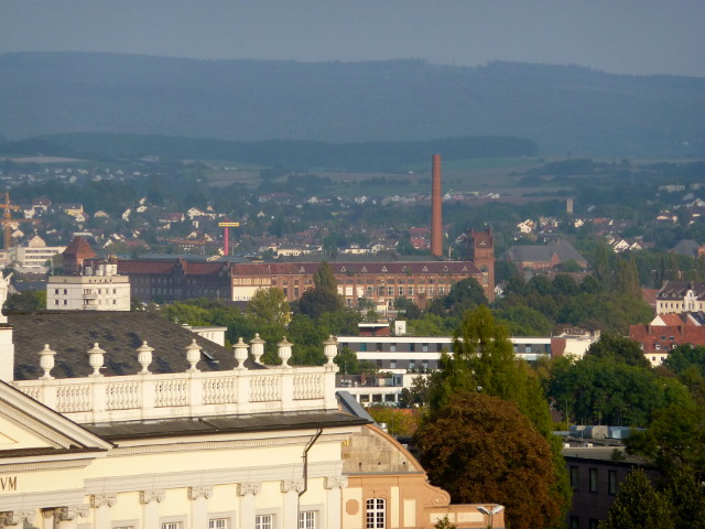 Die Salzmann-Fabrik vom FRK-Balkon aus gesehen (2014-09-16)