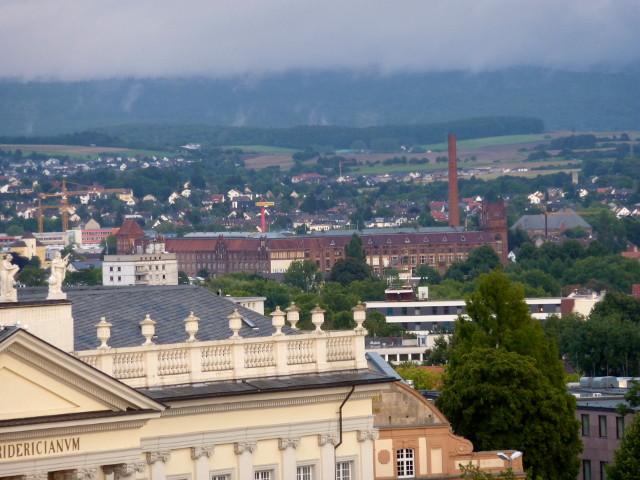 Die Salzmann-Fabrik vom FRK-Balkon aus gesehen (2015-09-01)