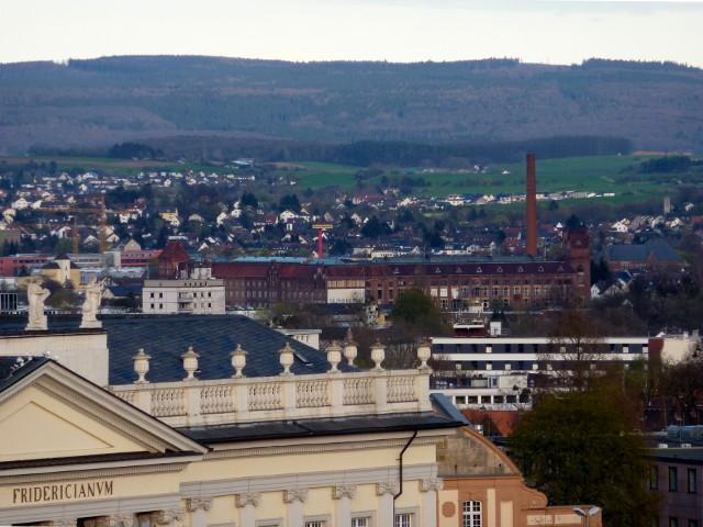Die Salzmann-Fabrik vom FRK-Balkon aus gesehen (2016-04-12)